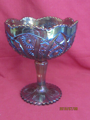 Imperial Carnival Glass #505 Large Compote