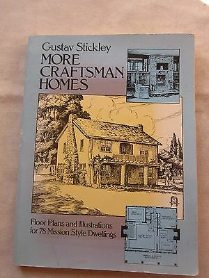 Old SC Book Gustave Stickley More Craftsman Homes 1982 GC