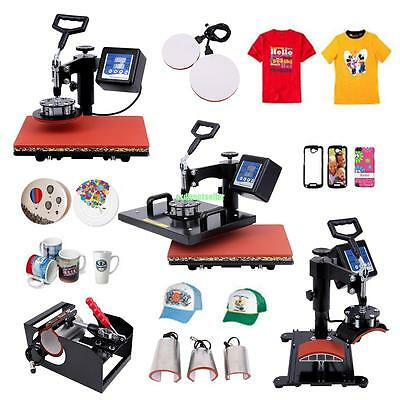 8 in 1 Heat Press Transfer Machine Digital T-Shirt Mug Hat Plate Cap Sublimation