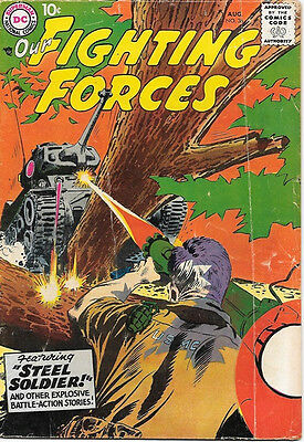 Our Fighting Forces Comic Book #36, DC Comics 1958 VERY GOOD/VERY GOOD+