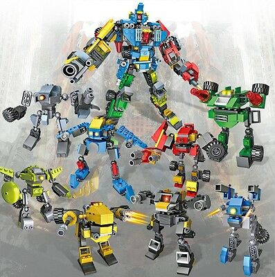 Transformers 8 in 1 Building Blocks 739 Pieces Compatible with Lego