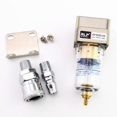 Compressed Air Compressor In Line Moisture Water Filter Trap With Parts Fittings