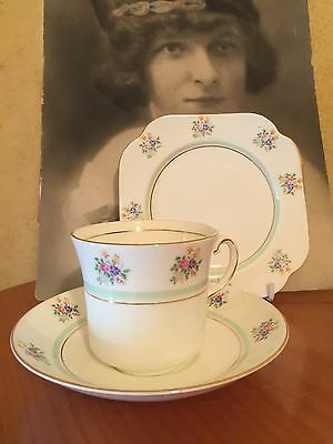 Antique Vintage Trio Cup Saucer Plate Csp Afternoon High Tea Royal Vale Pansy