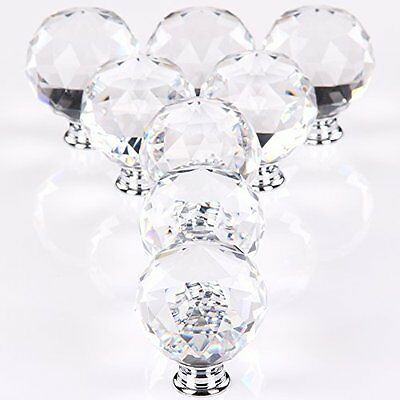 MultiWare Door Knob 8*50mm Clear Crystal Glass Cupboard Drawer Cabinet Kitchen
