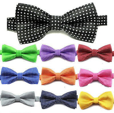 Kids Girl Boys Polka Dot Party Wedding Show Bow Tie Adjustable Baby Bowtie Gift
