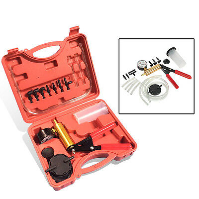 Brake Fluid Bleeder Oil Change Hand Held Vacuum Pistol Pump Tester Kit with Case