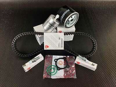 Ducati 848 1098 1198 service kit; cam timing belts, oil-, fuel filter, spark ...