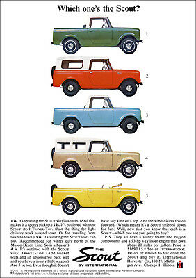 International Harvester Scout 80 Range Retro Poster A3 Print From 60's Advert