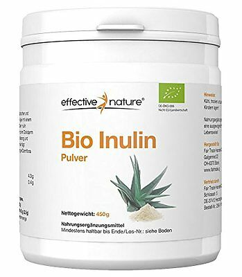 Effective Nature, BIO Inulin Pulver, 450g