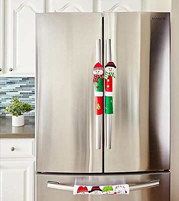 Snowman Kitchen Appliance Handle Covers- Set of 3