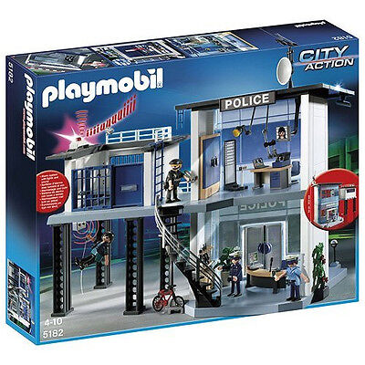 Playmobil 5182 City Action Police Station with Alarm System (4+)