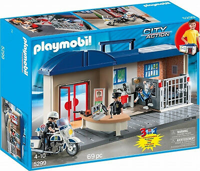 Playmobil City Action 5299 Take Along Police Station