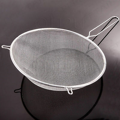 22cm Large Metal Sieve Strainer Wire Mesh Hand Kitchen Tool Flour Baking Tea