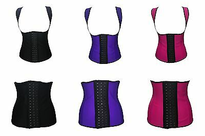 Women's Latex Underbust Body Shaper Waist Clincher Corset Training Trainer Belt