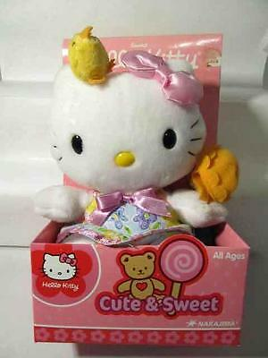 "2005 Sweet Hello Kitty 6"" Plush CUTE & SWEET Doll Stuffed Nakajima New Orig Box"