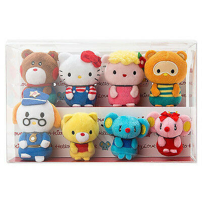 Hello Kitty mini Plush Doll ACTION for the LOVE 8 pcs Set ❤ Sanrio Japan