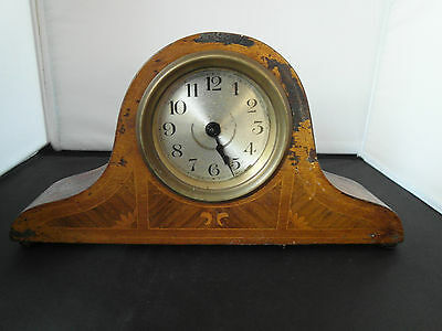 Edwardian Inlaid Mahogany Mantel Clock For Restoration