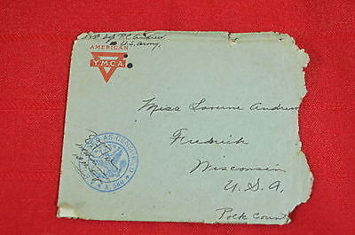 World War I Letter First Sgt in France to Cousin in Frederick, WI (#8)  900