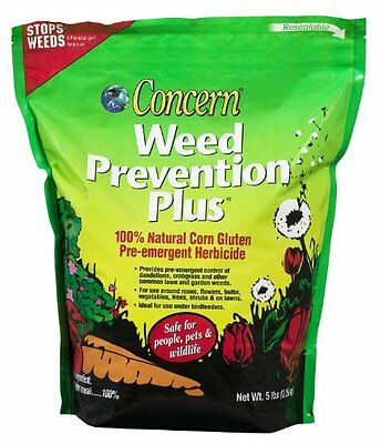 Concern 97181 Weed Prevention Plus for Gardens, 5-Pound Shaker Bag