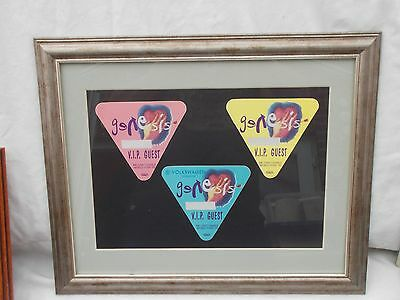 Phil Collins Genesis Framed Vip Pass Set We Can't Dance
