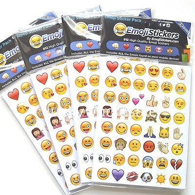 Full Set of 912 or 660 Emoji/Smiley/WhatsApp Stickers for iPhone/Tablet/Laptop