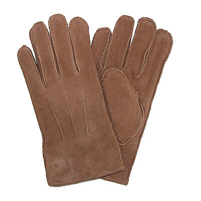 New Levis Men's Pig Suede Leather Winter Gloves with Shearling Lining