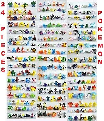 MINI POKEMON 24 PCS ACTION FIGURE PARTY FAVOR PIKACHU Cup Cake Topper