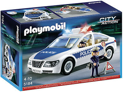 Playmobil 5184 City Action Police Car with Flashing Lights (4+)