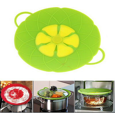 Multi-function Silicone Stopper Flower Cookware Pot Lid  Cooking Tool Cover#TY
