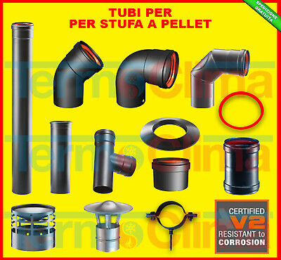 TUBO TUBI STUFA A PELLET DIAMETRO 80mm