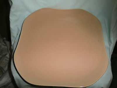 Large Russel Wright Oneida Coral 13 inch Square Platter