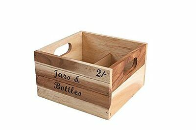 T&G Woodware Baroque Bottle Crate Jars, Acasia