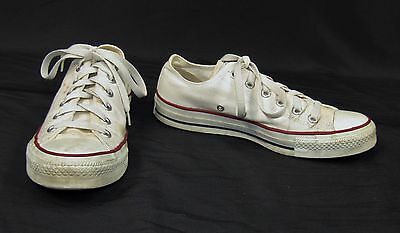 Vintage CONVERSE ALL STAR Men's White Canvas Sneakers Tennis Shoes Size 6 M