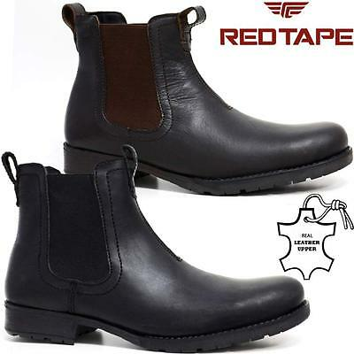 Mens Leather Combat Chelsea Ankle Cowboy Military Army Biker Boots Shoes Size
