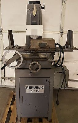 Republic 6 x12 Surface / Tool Grinder, Electro-Matic 19R7 Chuck, Lube, 1HP, 3PH