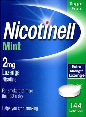 Nicotinell Mint 2mg Compressed 144 Lozenge Nicotine Sugar Free Exp 06/2017