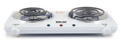 Portable Electric Dual 2 Burner Hot Plate Stove Top Cook Warmer Kitchen IM-306DB