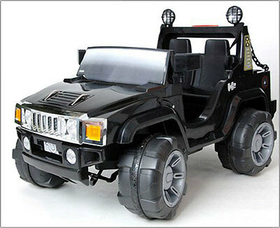 New Hummer Style 2 Seater Jeep–Black