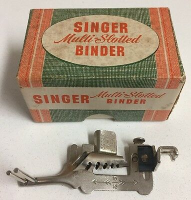 Vintage Singer 160359 Multi-Slotted Binder Foot Sewing Machine Attachment Part