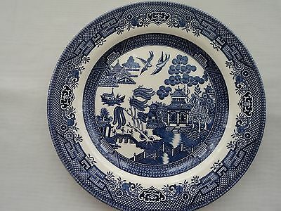 """Churchill """"blue Willow Nine 10 1/4"""" Dinner Plates Excellent Condition!! England"""