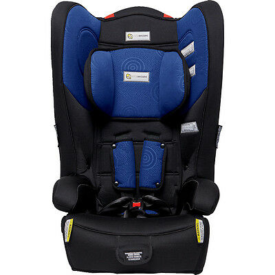 InfaSecure Racing Kid Plus Convertible Booster Seat - Blue Swirl - NEW