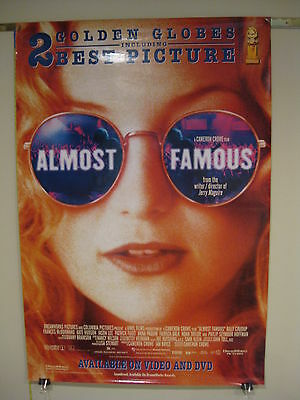Almost Famous movie marquee poster 27x40 Elton John Kate Hudson