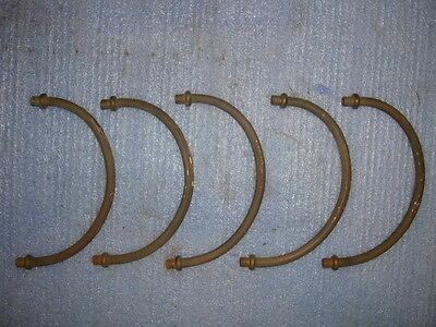 Five Vintage Solid Brass Chandelier Light Arms Parts Lamp Steampunk