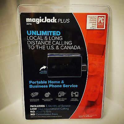 magicJack Plus 2014 - VoiP Portable Home & Business Phone - 6 Months Free - NIP