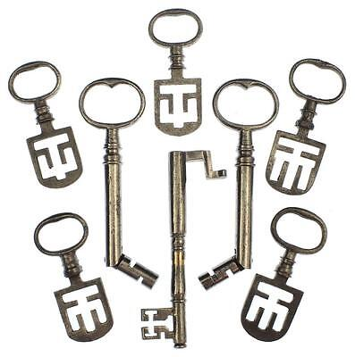 18th/19th Century Latch Key Collection of 8 incl. Odell / Pivoted / Double Bit