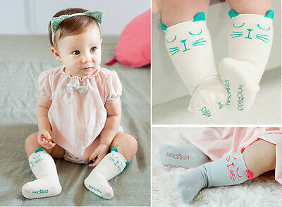 Baby Boys Girls Toddler Kids Cotton Cute Media Corta Middle Tube Socks 0-4Y Gift