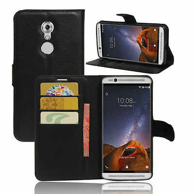 separation shoes b4515 98ed7 FLIP MAGNETIC CARD Wallet PU Leather Case Stand Cover Skin For ZTE AXON 7  mini