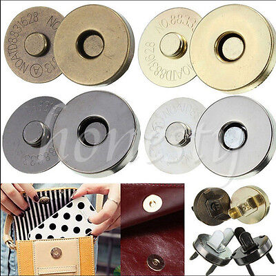14/18mm Magnetic Clasp Purse Snaps Closures Round Sewing Button Bag Press Studs