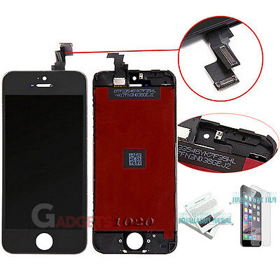 Black For iPhone 5C LCD Display Touch Screen Digitizer Assembly Replacement