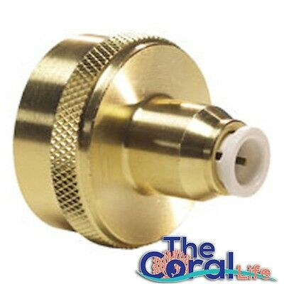 Solid Brass Hose adapter connect RO/DI water system to Garden or Laundry outlet